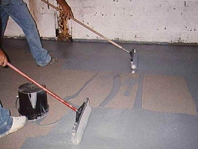floor epoxy paint application