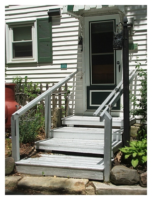aluminum paint steps