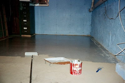 epoxy floor basement coating paint job & Industrial Floor Epoxy examples - floor coatings