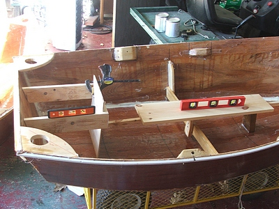stitch and glue marine epoxy rowboat