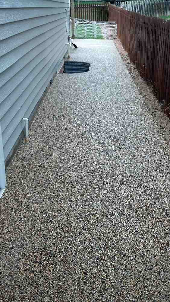 Pebble floor deck epoxy 603 435 7199 repair recoat reseal resealed stone deck with epoxy solutioingenieria Choice Image