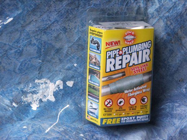 Water Activated Resin Pipe Wrap Repair Kit